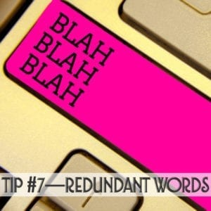 how to avoid redundancy in your writing